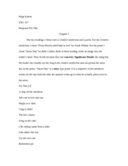 Imaganitive writing chapter 2