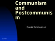 Lecture 8- Communism and Postcommunism