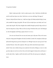 Lady Macbeth final letter to husband paper