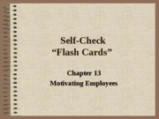 Self Check Chapter 13