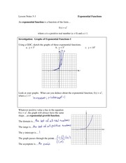 5.3 Exponential Functions