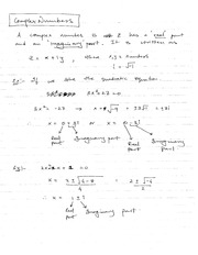 Lesson: Complex Numbers