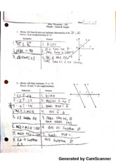 Proofs- Lines and Angles Problems