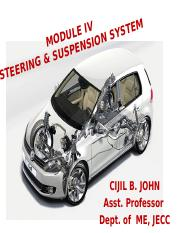 MODULE IV Steering & Suspension