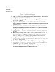 Chapter 6 Definitions Epidemiology.docx