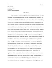 The Other Essay