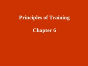 6 - Principles of Training