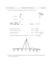 Physics 2.71 Exam 2 Solutions