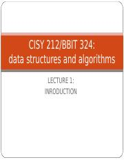 CISY 212 Lecture1 Introduction to Data structures.ppt