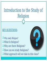 Intro to the Study of Religion(1)