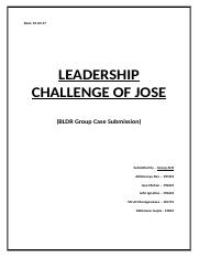 Leadership Challenge of Jose_AH1