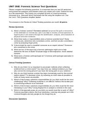 forensic 1 unit 7 text I was looking at the assessment for unit 1 lessons 1-7 (chapter 1) and feel like there are several problems that address content that wasn't explicitly covered in the lessons number 1 asks students why computers are based on binary number 5 requires that they be able to convert from hexadecimal.