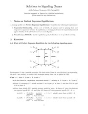 Signaling Problem Answers