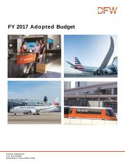 budget for the hub airport DFW.pdf