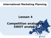 Lesson 4 IMP - Competition analysis & SWOT analysis
