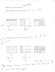 MATH 208 Section 6.2 Worksheet