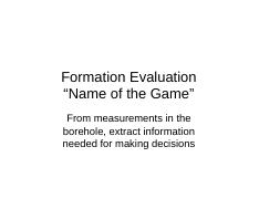 13 Formation Evaluation