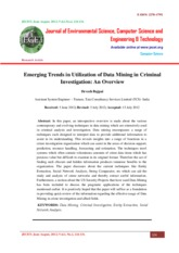 Emerging Trends in Utilization of Data Mining in Criminal Investigation An Overview