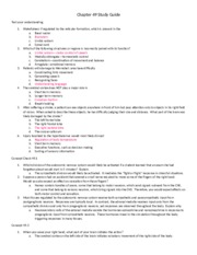 Chapter 49 Study Guide