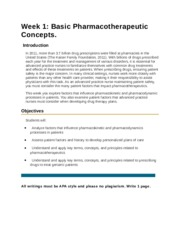 Basic Pharmacotherapeutic Concepts