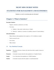 MGMT 1050 Course Notes
