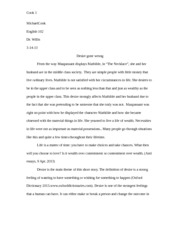 EN 102 Fiction Essay