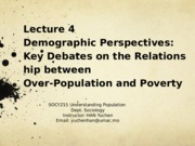 Lecture 4(009-010)-Demographic Perspectives- Key Debates on Poverty and Population Growth.pptx
