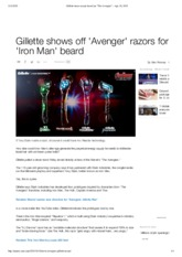 Gillette teases razors based on _The Avengers_ - Apr