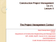 Project Mgt. Context (Lec-2)