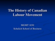 Lecture 7 - Canadian Labour History