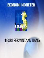3P. Teori Permintaan Uang.ppt