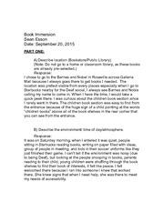 Schooling experiences essay