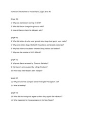 questions for howard zinn worksheet for essay on columbus  3 pages 39 45 worksheet for howard zinn
