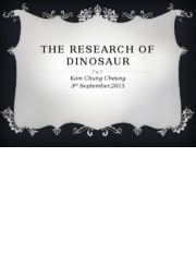 The Research of Dinosaur.pptx
