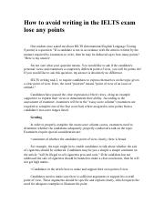 How to avoid writing in the IELTS exam lose any points.pdf