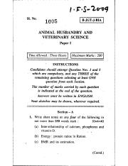 (www.entrance-exam.net)-IFS Animal Husbandry and Veterinary Science (Paper I) Sample Paper 1.pdf