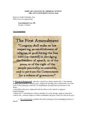 Con Law Chapter 5 First Amendment.doc