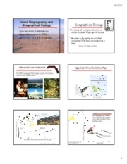 BioEE 1610 Geographical Ecology 2012(1)