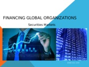 Financing Global Operations - Securities (1)