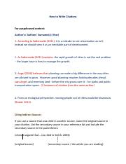 How to Write Citations (1)