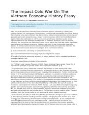 Example essay- effects of cold war on Vietnam