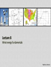 Lecture 09 - Wind Energy Fundamentals