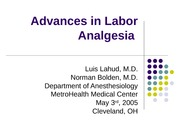 advancesInLaborAnalgesia