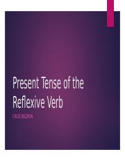 Present Tense of the Reflexive Verb.pptx