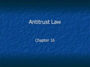 Legal Studies 2700 Antitrust Law Slides