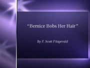 Bernice Bobs her Hair intro