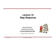 Lecture 19-Step Response
