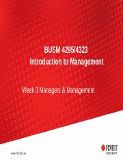 Week 3 Managers and Management (1).ppt
