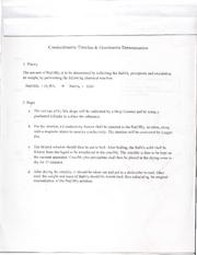 conductimetric titration and gravimetric determination of a precipitate essay Gravimetric, turbidimetric and various titrimetric techniques have been used  factors of importance in a precipitation conductometric titration  determination.