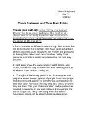 thesis statement and three main points.docx
